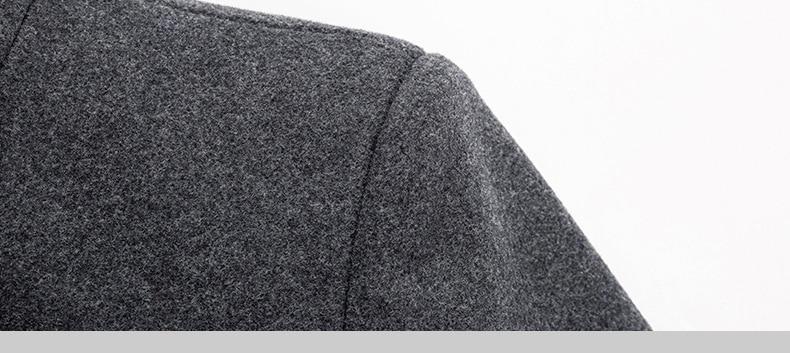 Men's Thick Stand Collar Coat