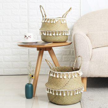 Handmade Eco-Friendly Seagrass Storage Baskets
