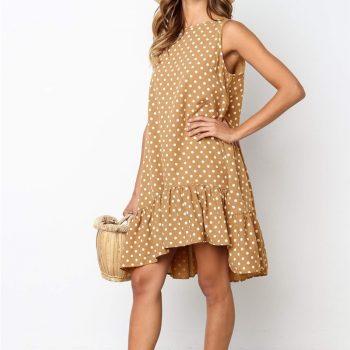 Ruffled Sleeveless Summer Dress