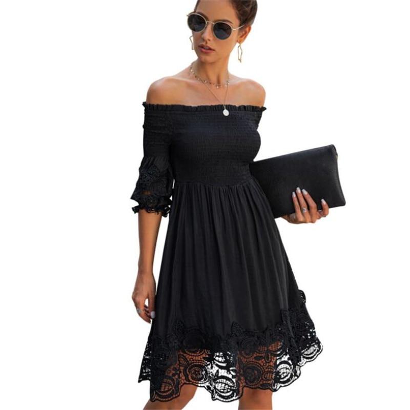 Off-Shoulder Backless Cotton Ruched Dress