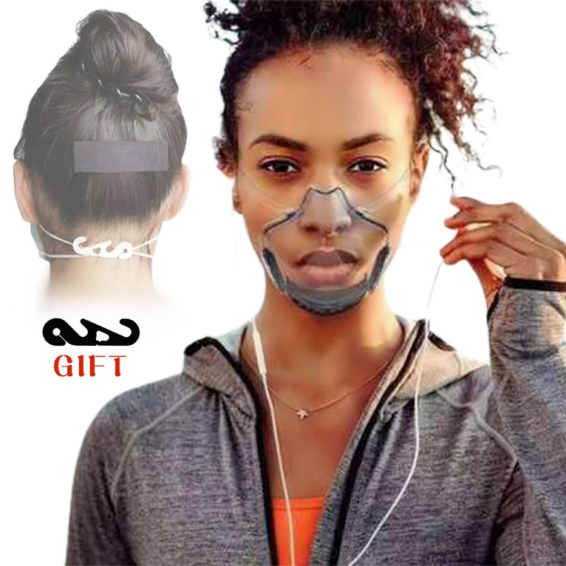 Transparent Reusable Nose and Mouth Shield