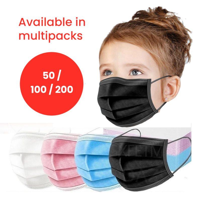 Children's Disposable 3-Ply Face Masks