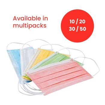 Colourful Children's Disposable 3-Ply Face Masks