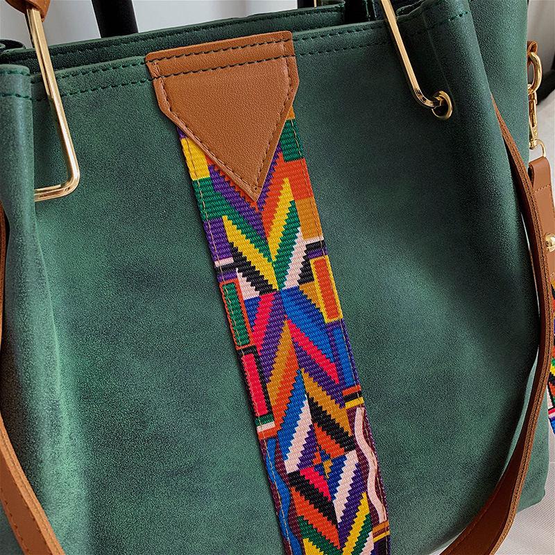 Casual Leather Crossbody Messenger Bag