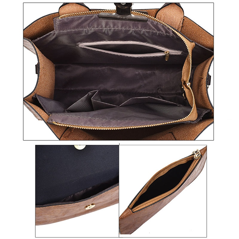 Vintage Large Capacity Crossbody Bag Set