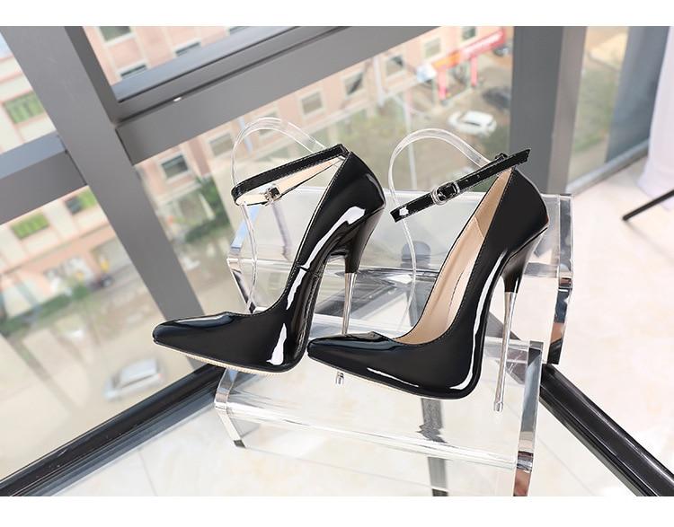 Super-high PU Leather Heels