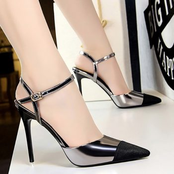 Pointed Strap High-Heels
