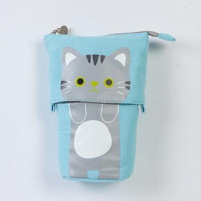 Cute Kawaii Canvas Animal Pencil Case Holder