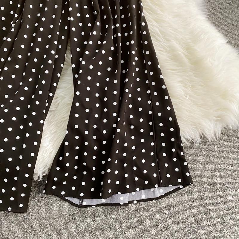 Vintage Polka Dot High Waist Romper Jumpsuit Playsuit