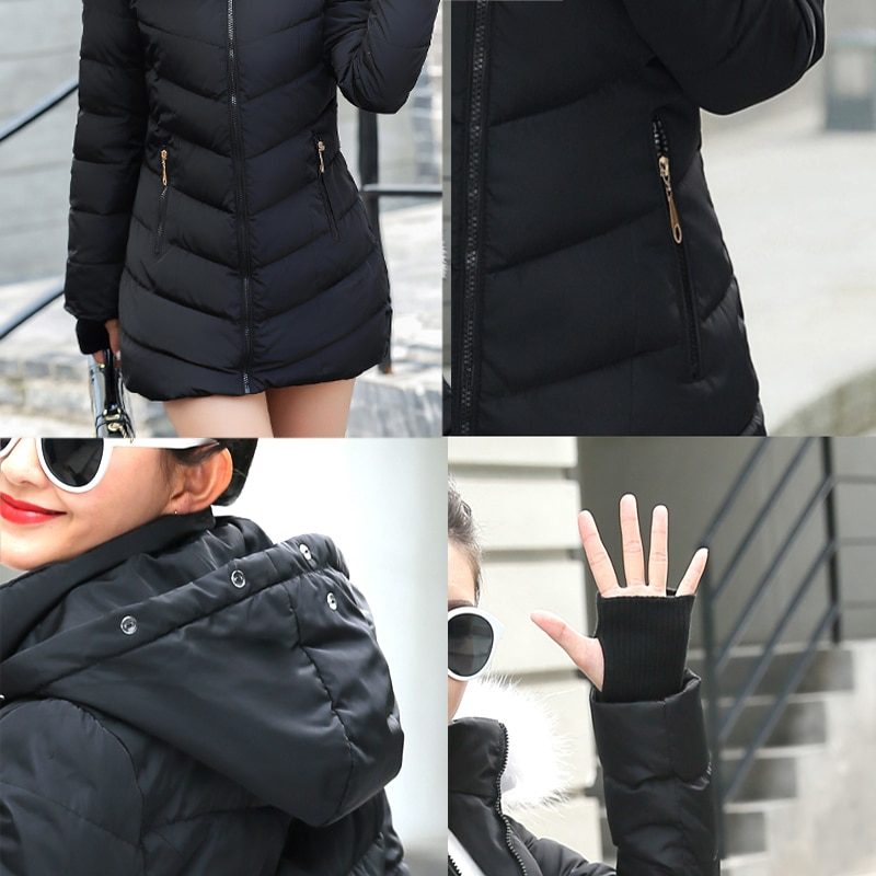 Cotton Padded Hooded Warm Thick Coat