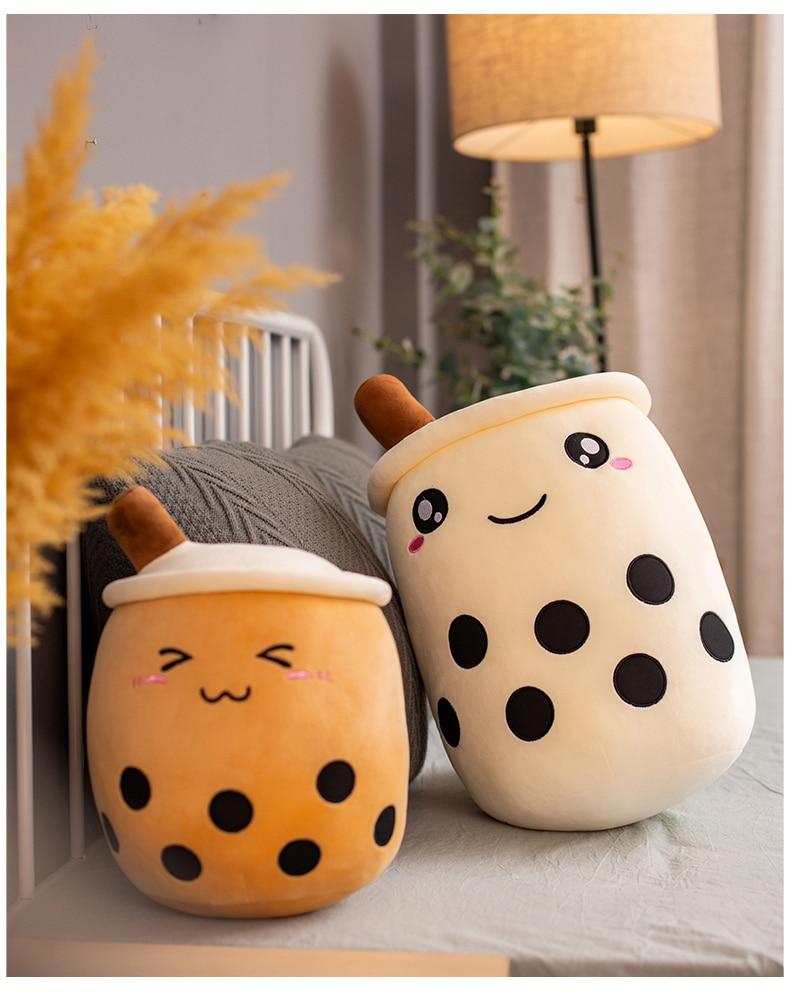 Super Soft Bubble Tea Pillow Plush Toy