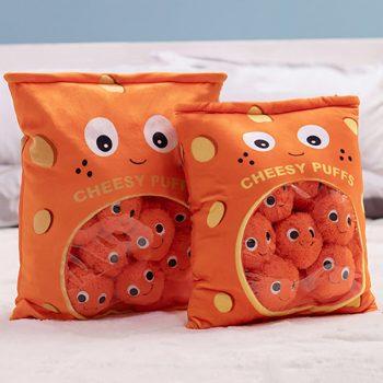 Plush Cheesy Puffs Soft Stuffed Pillows